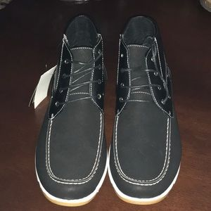 Akademiks Men's Bow style Top Chukka boat shoes
